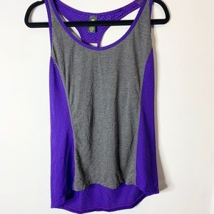 Xersion racerback purple and grey athletic tank XL